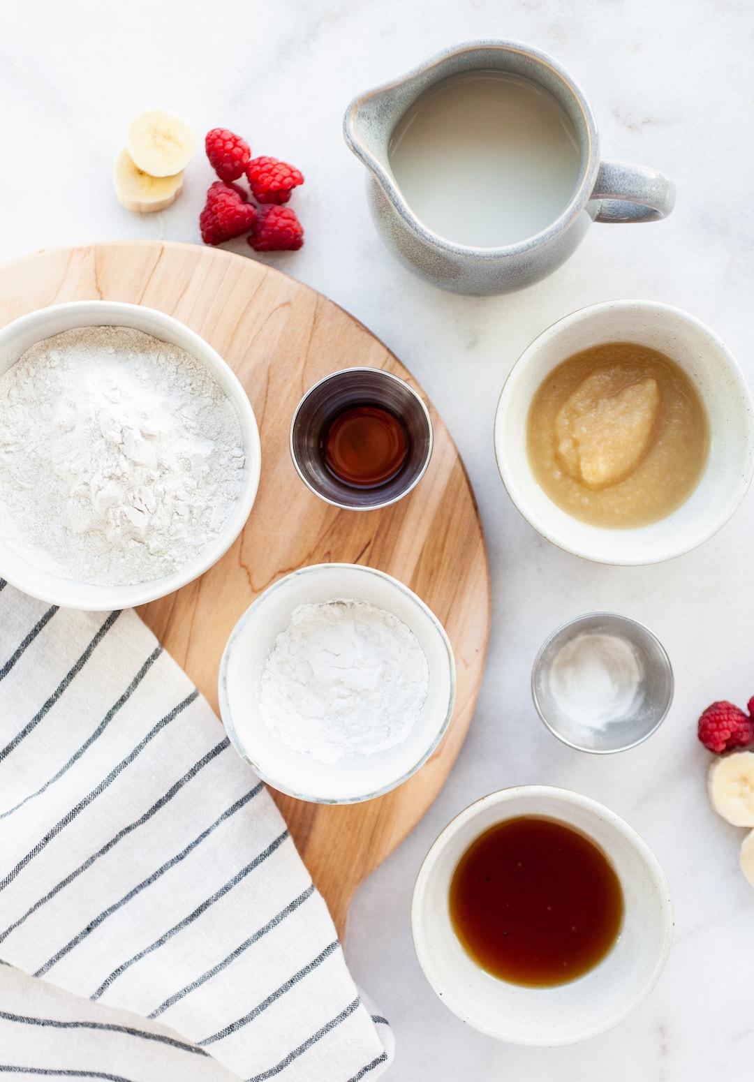 Perfect Vegan Buckwheat Pancakes ingredients