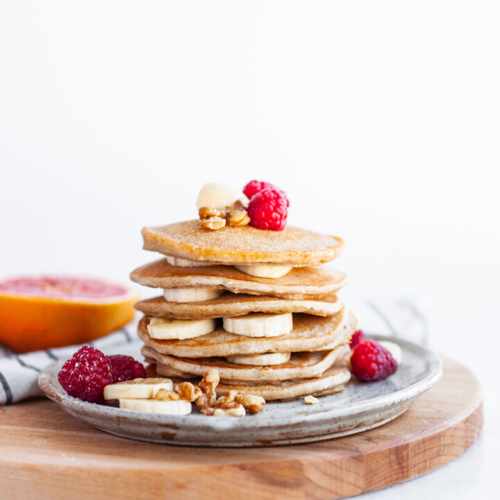 Stack of Perfect Vegan Buckwheat Pancakes