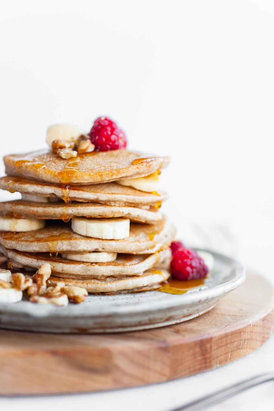 Close up shot Perfect Vegan Buckwheat Pancakes