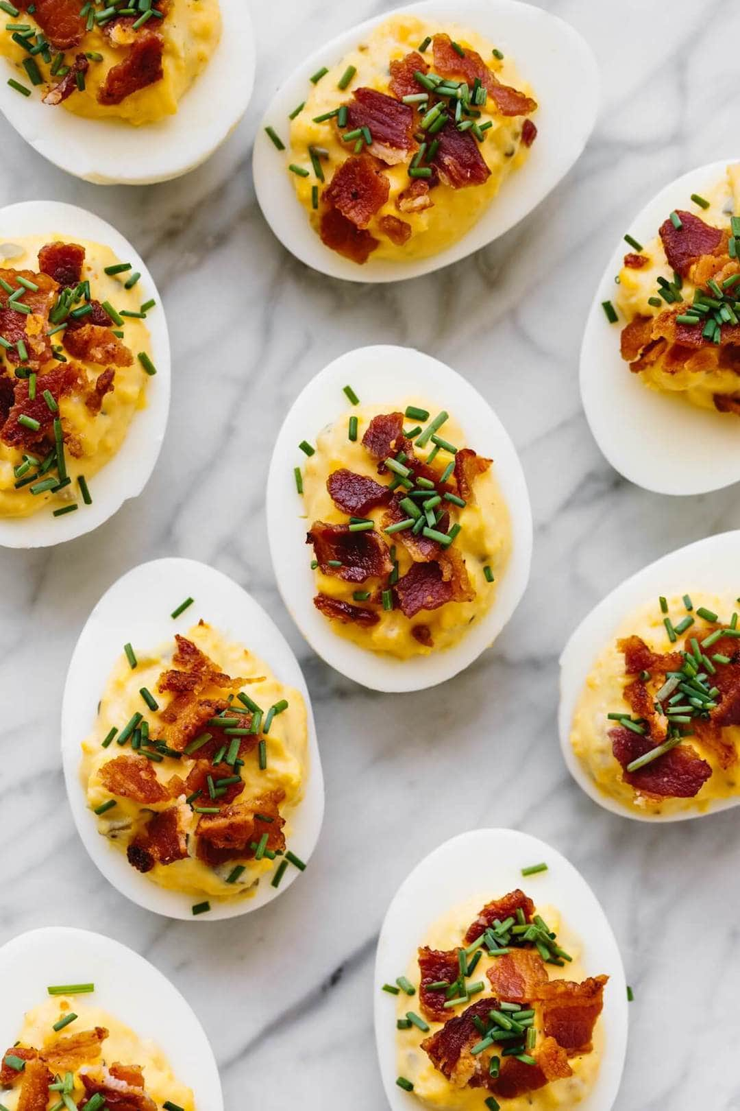 Bacon Deviled Eggs - 18 Delicious Low Fodmap Snacks