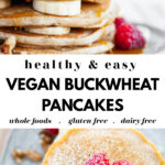 Perfect Vegan Buckwheat Pancakes pin 3