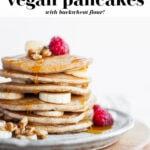 Perfect Vegan Buckwheat Pancakes pin 2