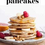 Perfect Vegan Buckwheat Pancakes pin 1