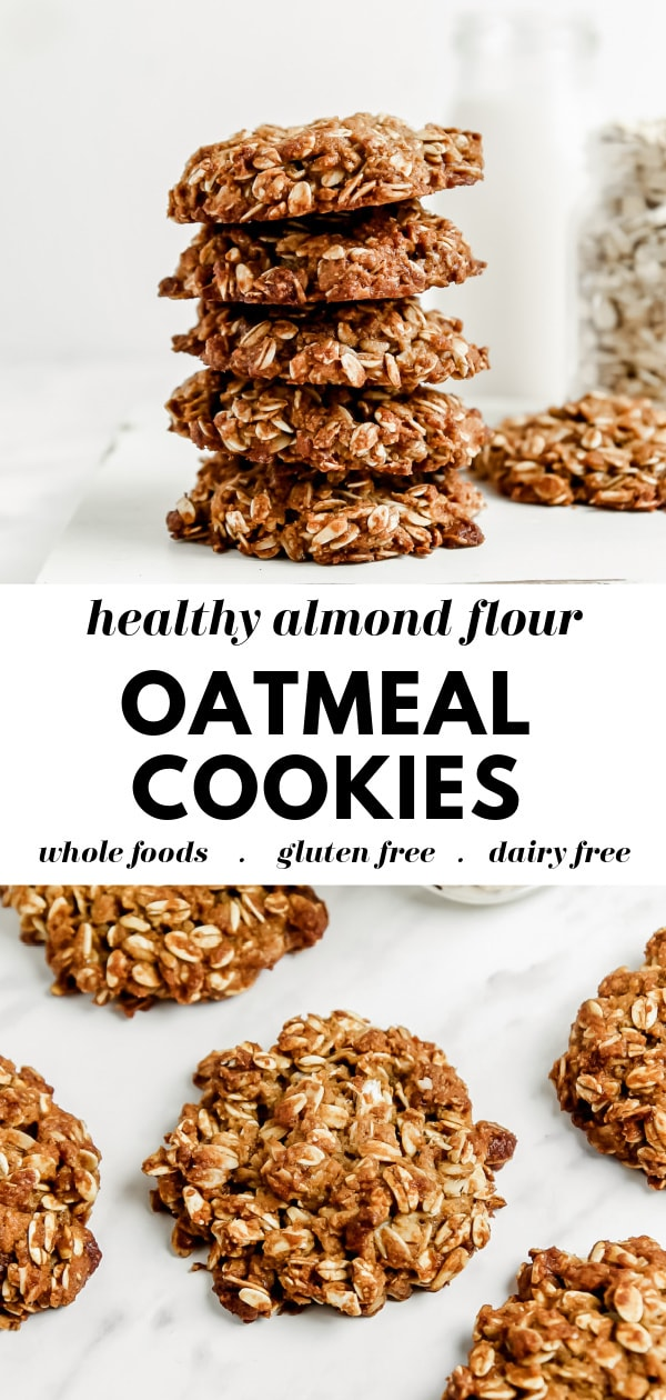 Healthy Oatmeal Cookies Recipe with Almond Flour