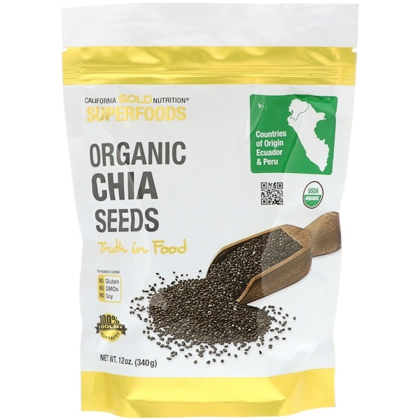 California Gold Nutrition Superfoods, Organic Chia Seeds