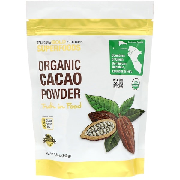 California Gold Nutrition Superfoods, Organic Cacao Powder