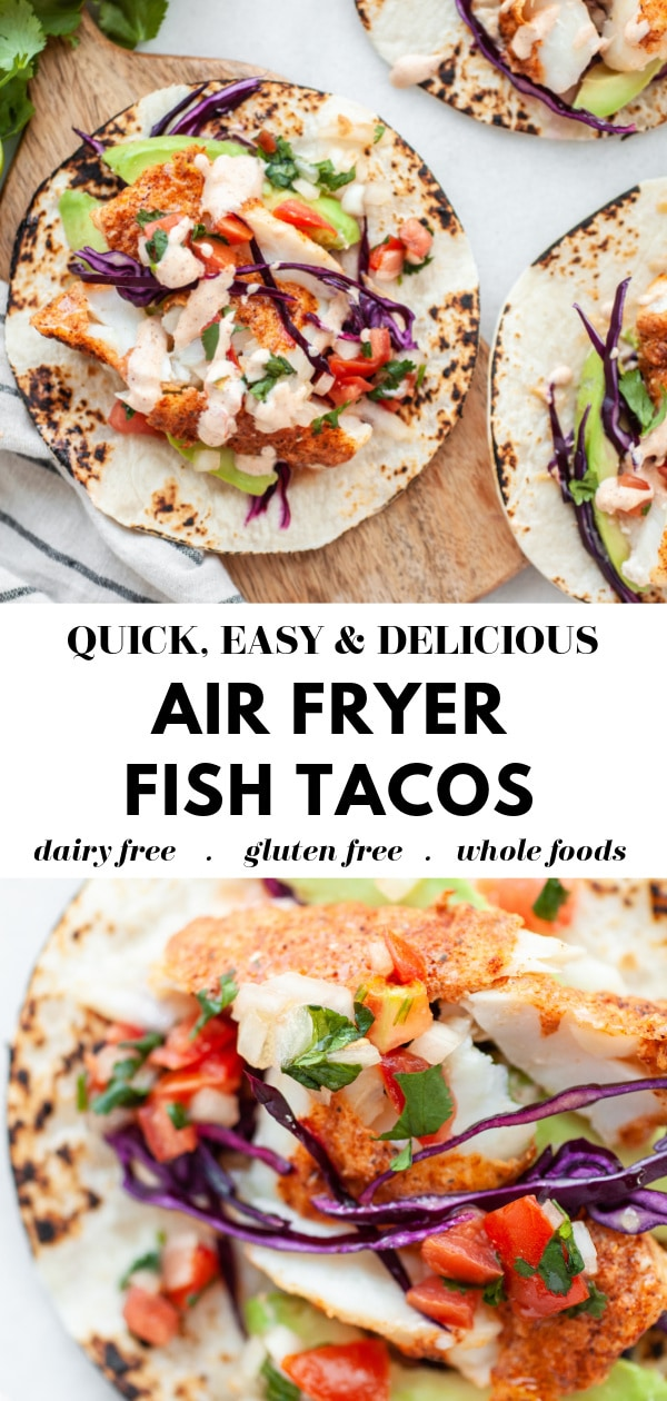 Healthy Air Fryer Fish Tacos pin 3