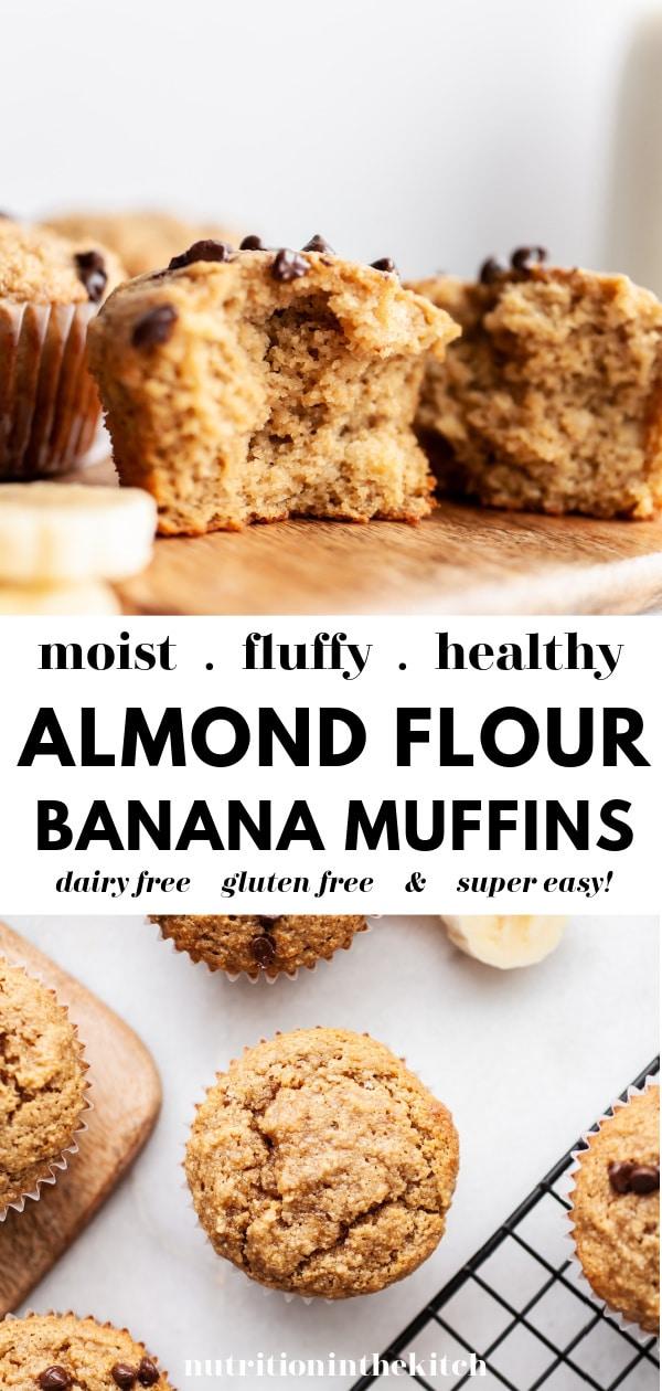Easy Almond Flour Banana Muffins pin 2