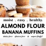 Easy Almond Flour Banana Muffins pin 3