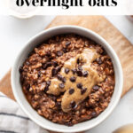 Healthy Chocolate Overnight Oats pin 1