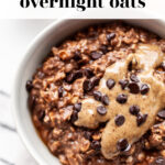 Healthy Chocolate Overnight Oats pin 2