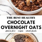 Healthy Chocolate Overnight Oats pin 3