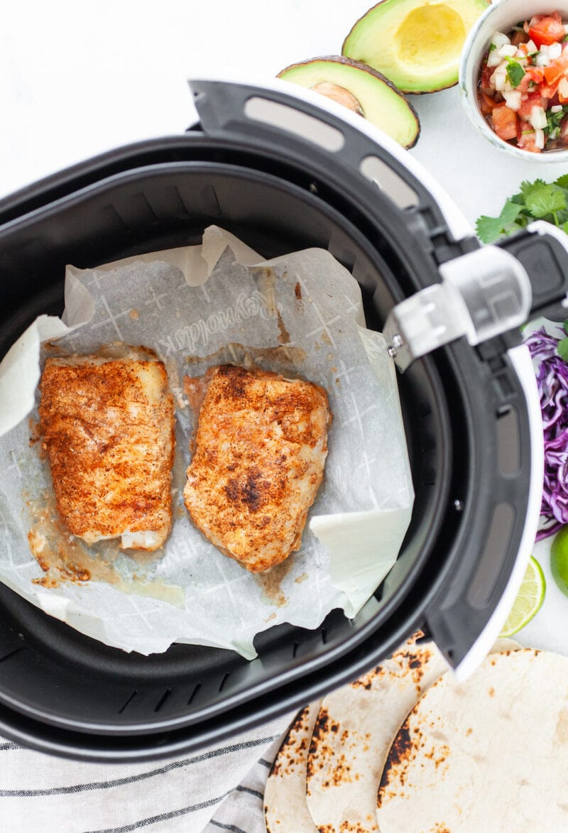 spiced cod in the air fryer for