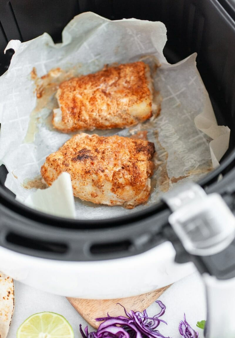 cod in the air fryer for Healthy Air Fryer Fish Tacos