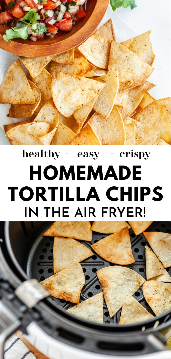 How To Make Air Fryer Tortilla Chips pin2