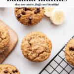 Easy Almond Flour Banana Muffins pin1