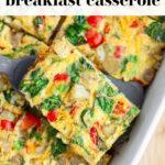 Dairy Free Breakfast Casserole pin 1