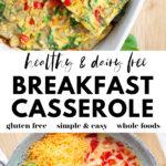 Dairy Free Breakfast Casserole pin 2