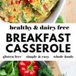 Dairy Free Breakfast Casserole pin 3