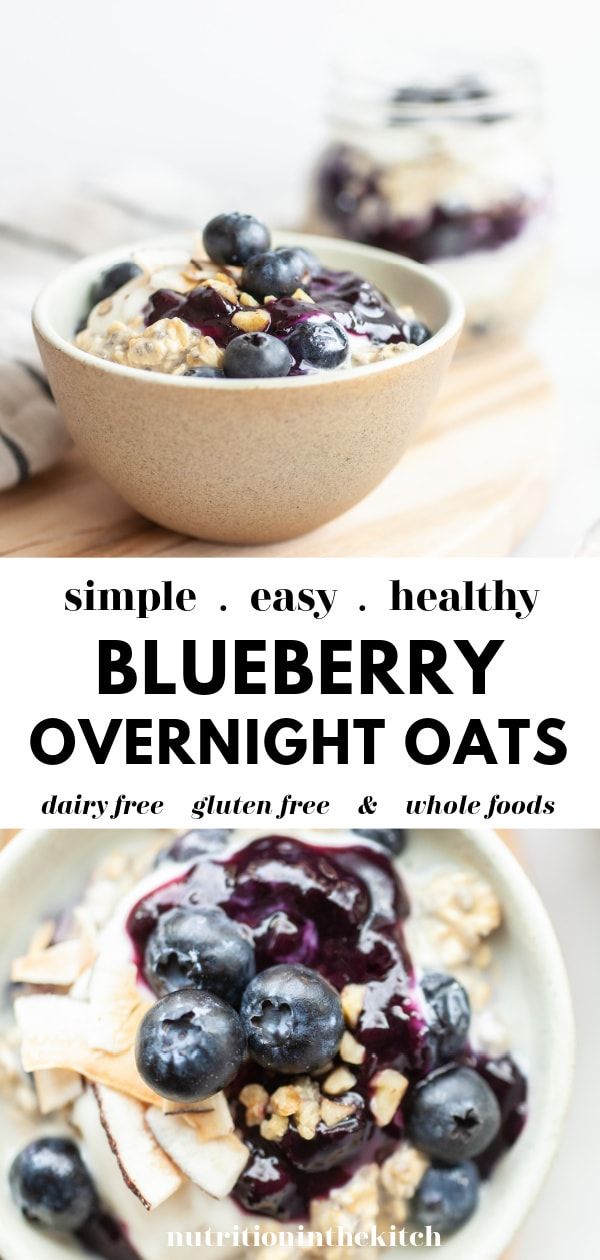 Easy Blueberry Overnight Oats pin 2