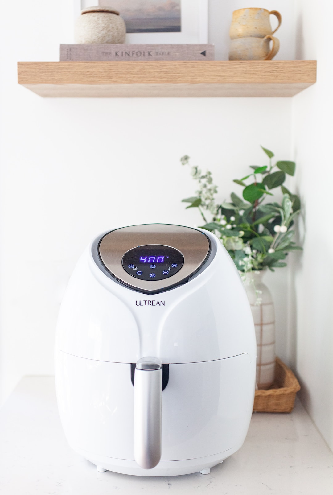 Air fryer on a countertop in the kitchen