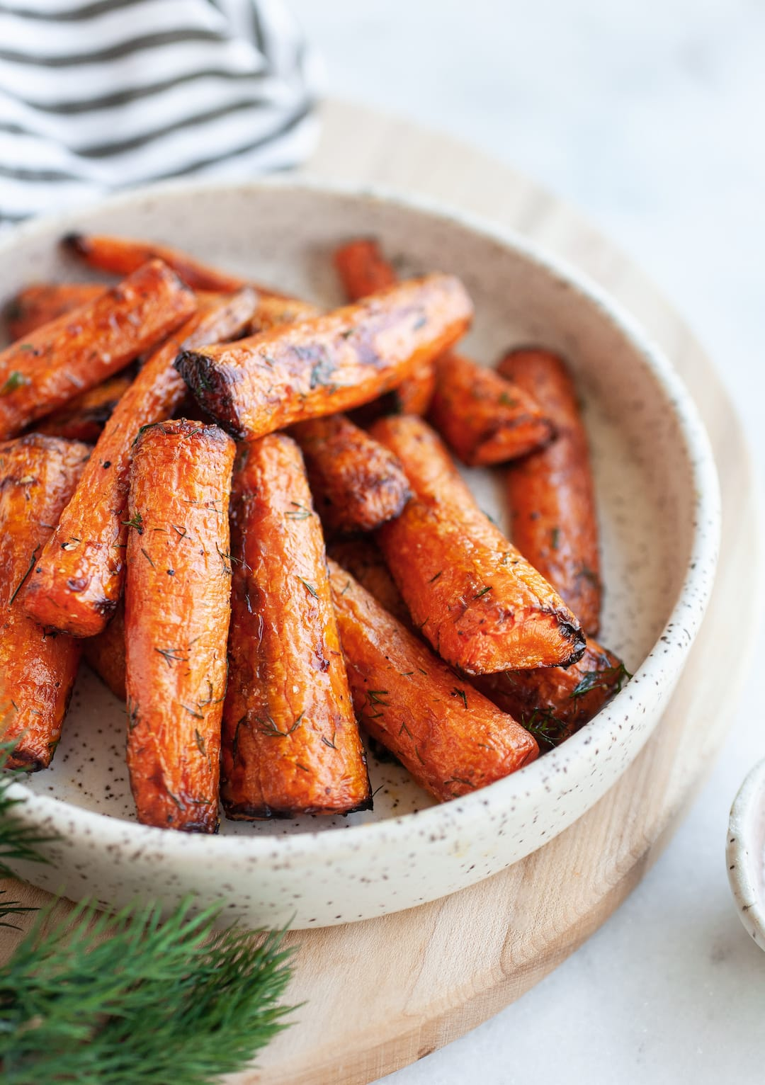 Incredible Air Fryer Carrots on a plate