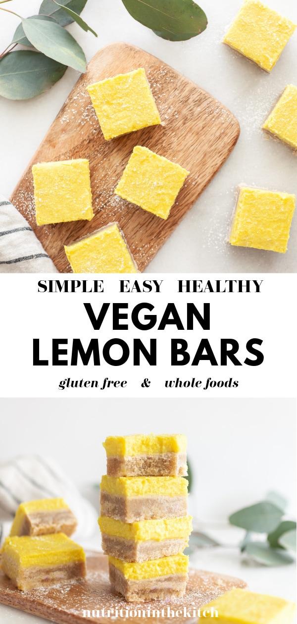 Best Vegan Lemon Bars pin 4