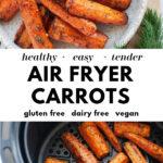 Incredible Air Fryer Carrots pin 3