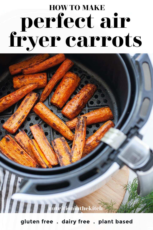 Incredible Air Fryer Carrots pin 1