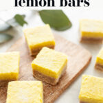 Best Vegan Lemon Bars pin 2
