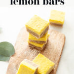 Best Vegan Lemon Bars pin 1