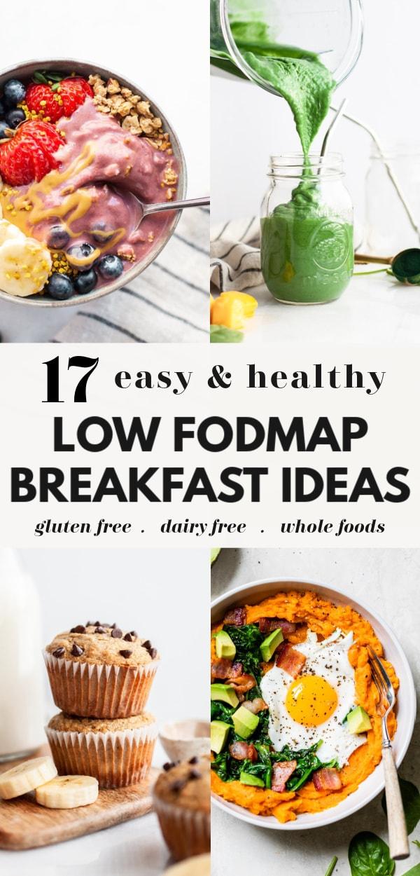 17 Low FODMAP Breakfast Ideas Roundup Pin 1