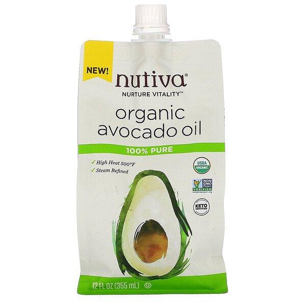 Nutiva, Organic Avocado Oil, Steam Refined, 12 fl oz