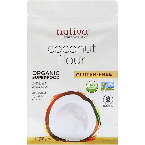 Nutiva, Organic Coconut Flour, Gluten Free, 1 lb (454 g)