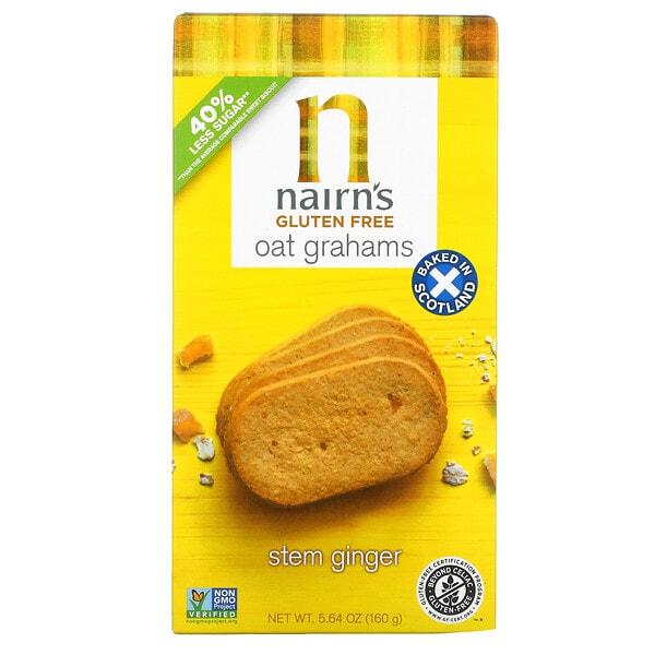 Nairn's, Oat Grahams, Gluten Free, Stem Ginger, 5.64 oz (160 g)
