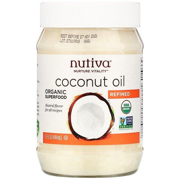 Nutiva, Organic Coconut Oil, Refined, 15 fl oz