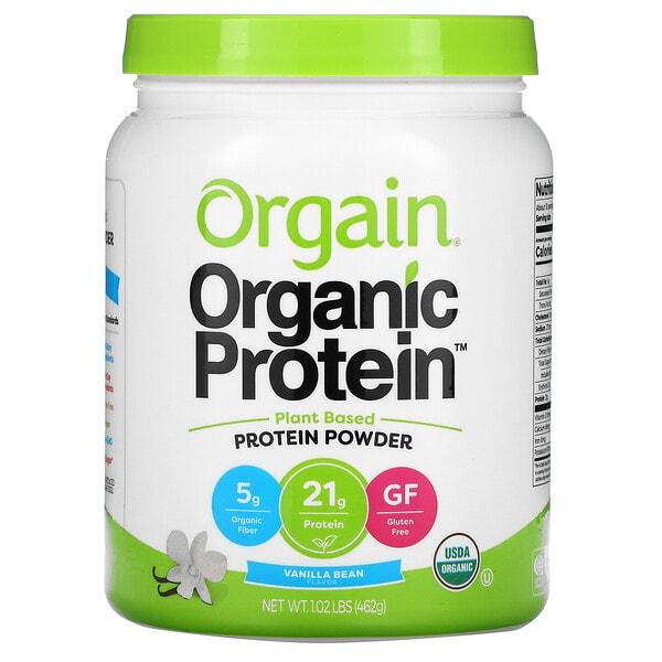 Orgain, Organic Protein Powder, Plant Based, Vanilla Bean