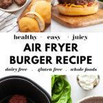Healthy Air Fryer Burger Recipe pin 1