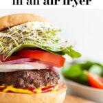 Healthy Air Fryer Burger Recipe pin 2