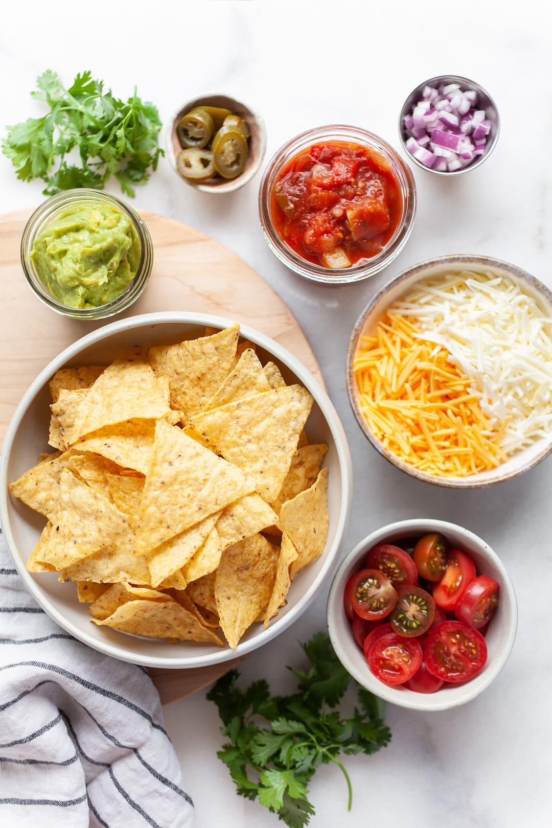 ingredients for air fryer nachos