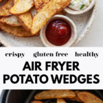 Air Fried Potato Wedges pin 2