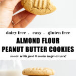 Almond Flour Peanut Butter Cookies pin 2